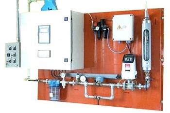 Sistema di bagnatura cereale automatico con misuratore di portata