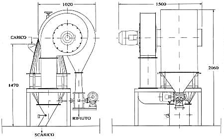 Tarara a riciclo d'aria per grandi puliture mod. L.T.C.